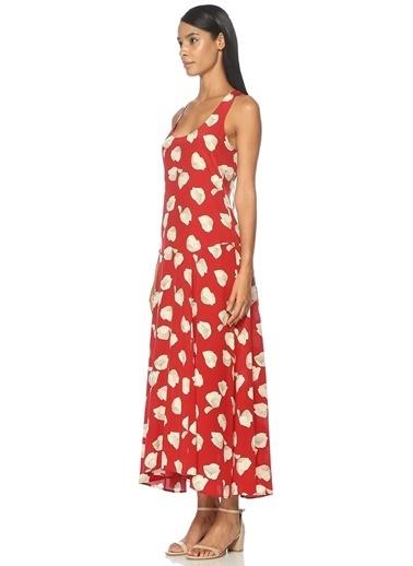 Askılı Desenli Uzun Elbise-Theory